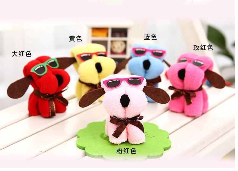 10 st / mycket! Microfiber Handduk Hot New Creative Dog form tårta - Hemtextil