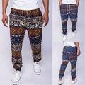 Dos homens novos do algodão de linho com cordão gecko floral impressão pés estreitos calças basculador sweatpants dos homens outono inverno hip hop do vintage 21
