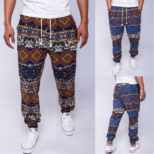 Drawstring Men Pants Slacks Linen Plus Size Narrow Feet Fashion Casual Jogger