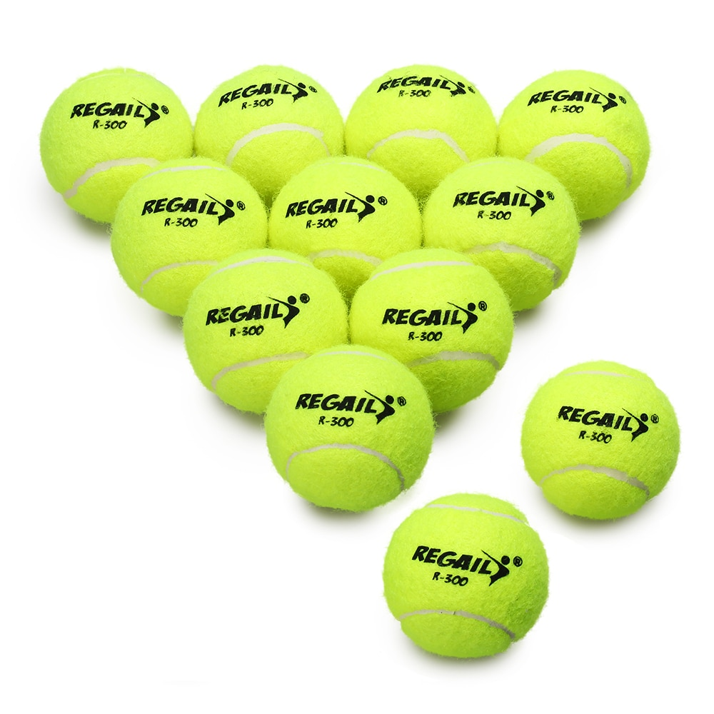 6/12 Pcs Rubber Tennis Ball Training Practice Tennis Balls Durable Tennis Practice Ball For School Club Competition Exercises
