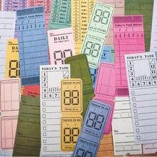 30 unids/lote Vintage antiguo de nota de papel almohadilla Retro boleto notas Bloc de notas Memo de la Oficina de la Escuela de papelería