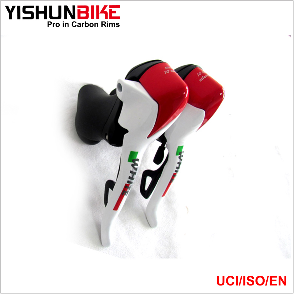 Taiwan Microshift double 10 speed ARSIS White& Red dual control levers, AL shifter levers tonymoly мыло al series red clay sebum control 120 г