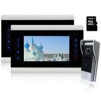 YSECU 2V1 7 Inch Color TFT LCD Video Touch Panel Monitor Door Phone Doorbell Intercom 1200TV