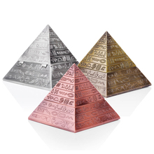 Creative pyramid ashtray Retro carving clamshell design Personality Fashion ashtrays Ash Tray egyptian Home decoration Outdoor