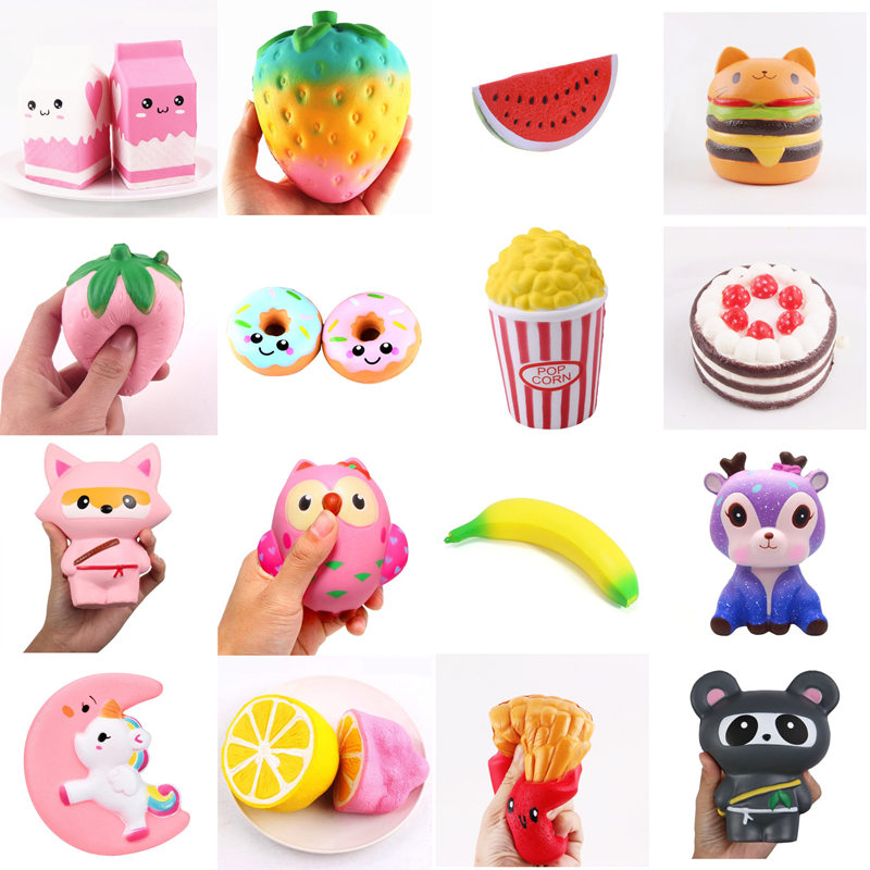 цена на Squeeze Squishys Galaxy Cute Panda Cream Scented Squishy Funny Gadgets Anti Stress Novelty Antistress Toys Gift slime toys