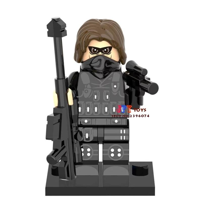Single Sale superhero Winter Soldier SDCC building blocks model bricks toys for children brinquedos menino