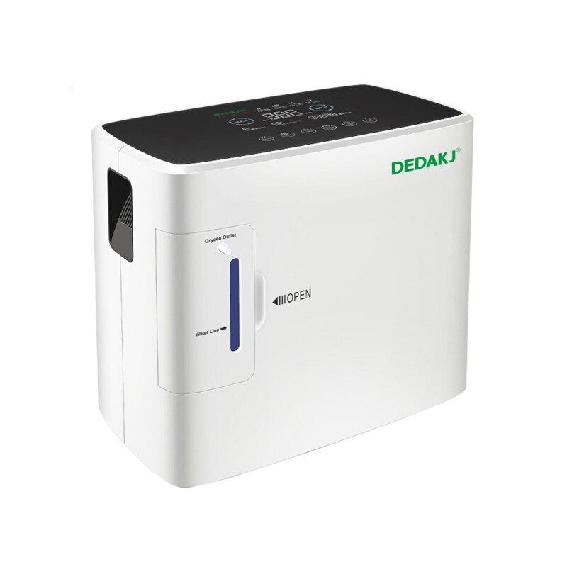 DEDAKJ DE-1S AC110V/220 V Gerador de Concentrador de Oxigênio Portátil Máquina 1-6L/min 30-90% Casa Ajustável Alta qualidade