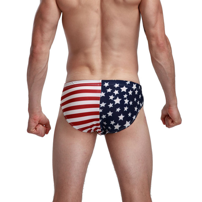b0cf004d4b 2019 New American Flag Mens Bikini Swimwear Men's Swimming Trunks Mens Swim  Briefs Sexy Sunga Maillot De Bain Homme Zwembroek-in Body Suits from Sports  ...