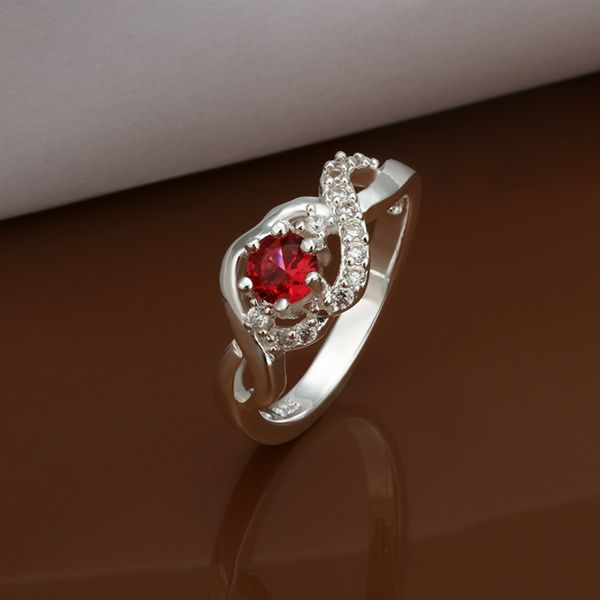 r435s Fashion Sale red Silver Plated Brass Jewelery Aneis Silver Rings for Women Rings for Men the Ring