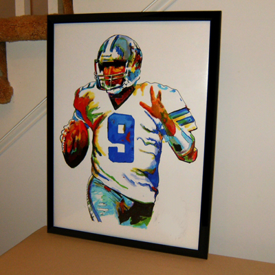 Tony Romo, Dallas Cowboys, Quarterback, Football, Sports  100% Hand Painted
