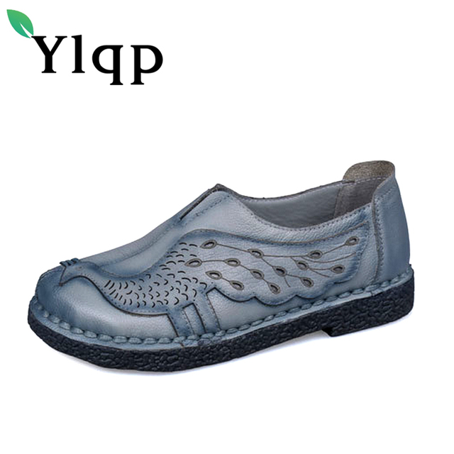 2018 Spring Summer Ladies Fashion Brand Women Shoes Elegant Comfort Woman's Casual OL Office Shoes Leisure Genuine Leather Shoes