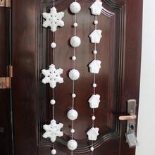 140cm Foam Powder Sequins Artificial Snowflakes Pendants Christmas Tree Ornaments Xmas Decoration For Party Supplies L45