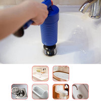 toilet plunger pipe suction cup Toilets Bathroom Kitchen Pipe Clog Remove Air Drain Pump Cleaner Kit with 4 adapters