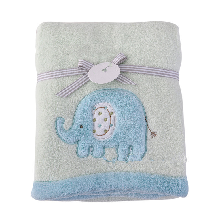 Baby blankets 2016 new thicken font b double b font layer fleece infant swaddle envelope font