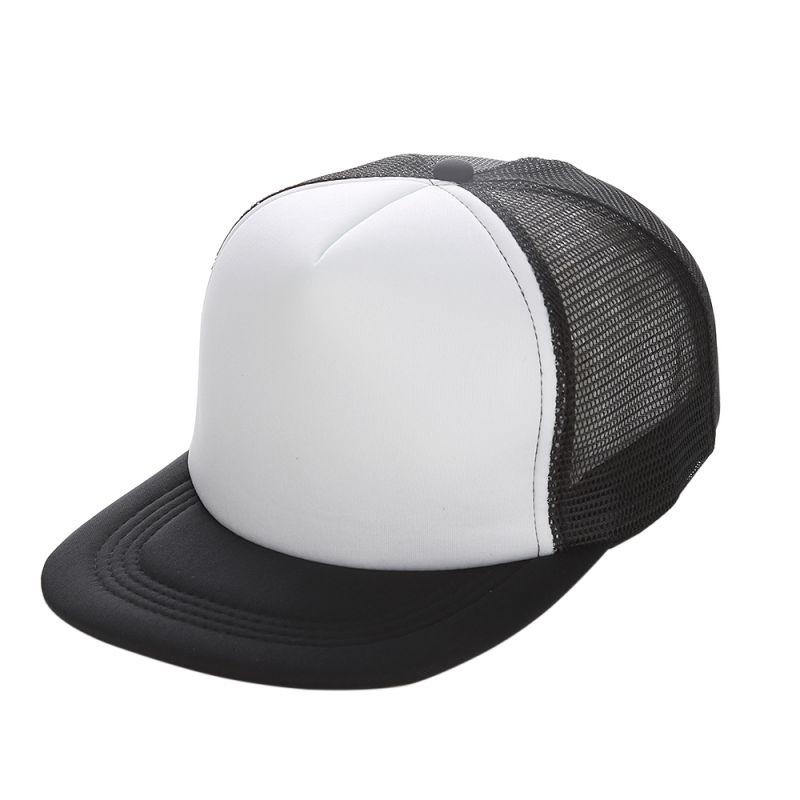 Flat Brim Blank Plain   Baseball     Cap   Hip Hop Women Men Mesh Snapback Strapback Trucker Hat Bone Black Blue Gray Green White Red