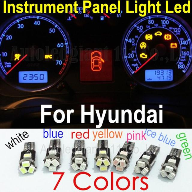 Upgrade 7 Colors Car T5 73 74 286 Wedge Led Dashboard Light Bulb Lamp 12v Replacement Instrument Panel For Hyundai 10x