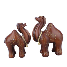 2pcs Creative Animal Camel Figurine Cute Model Home Decor Miniature Garden Decoration Accessories Modern Craft Gift