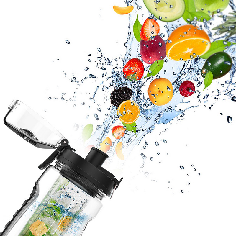 1000 ML Fruit Infuser Juice Shaker Sports Lemon Water Bottle Tour Hiking Climbing Camp Portable Drinkware Bottles
