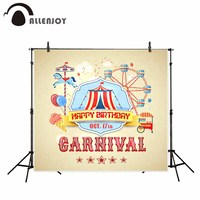 Allenjoy Naturism Children Background Cartoon Playground Circus Birthday Creativity New Arrivals Vinyl Photography Backdrops