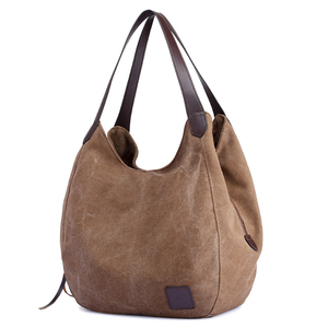 Image 3 - Canvas Bag Vintage Canvas Shoulder Bag Women Handbags Ladies Hand Bag Tote Casual Bolsos Mujer Hobos Bolsas Feminina 2020