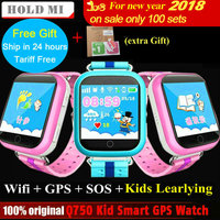 GPS Smart Watch Q750 Q100 Baby Smart Watch With 1 54inch Touch Screen SOS Call Location