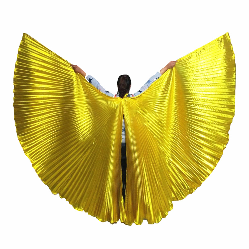 Cheap Stage Performance Props Dance Accessories Egyptian Wings 270 Degrees Belly Dance Isis Wings (without sticks)(China)