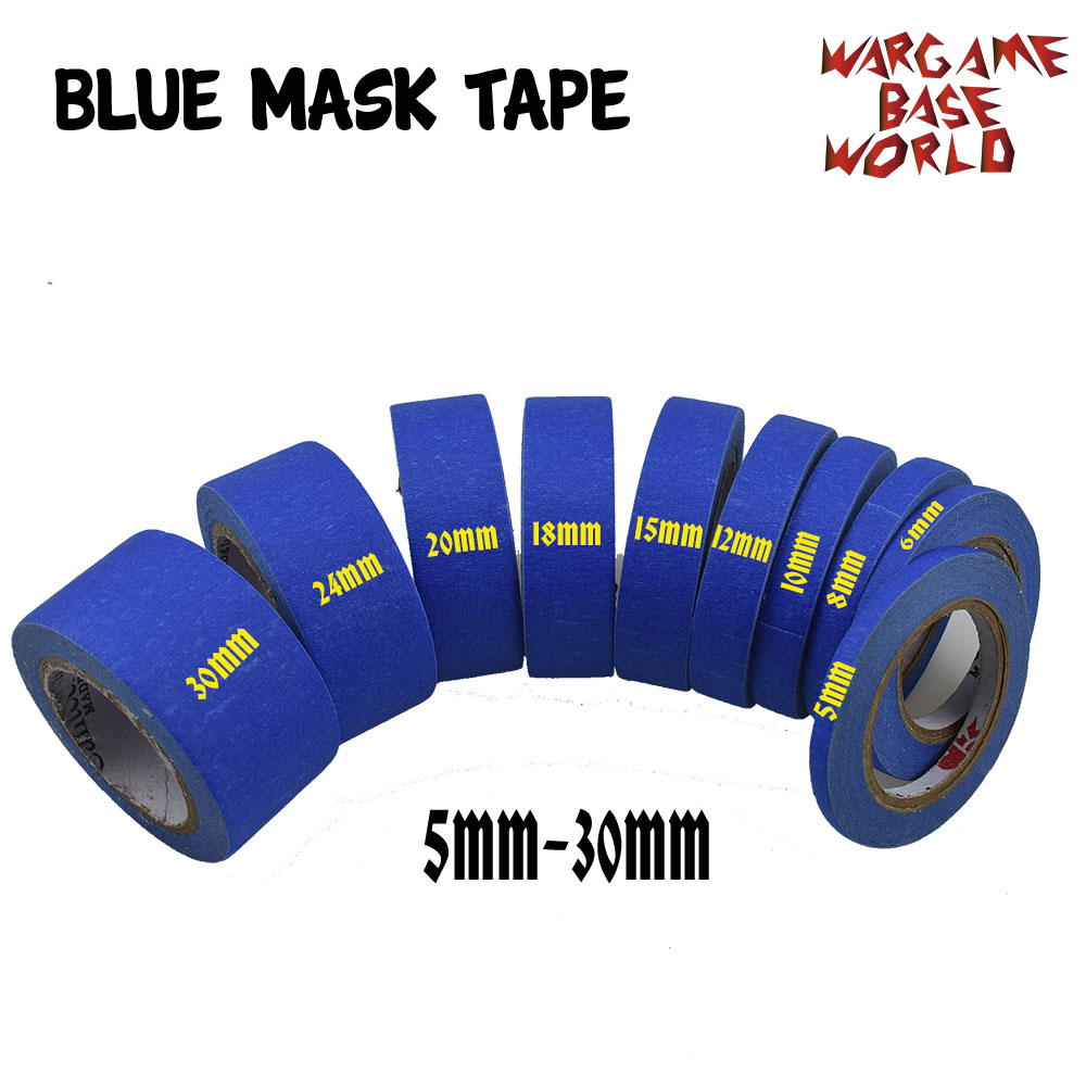2 Set Of Blue Mask Tape 12M - Paint Special  Model Special Masking Tape 5-30mm Model Hobby Painting Tools Accessory