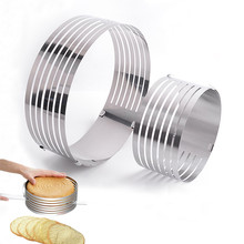 Xmpromo Mousse Cake Mold Round for Baking Stainless Steel Mousse Ring Adjustable Cake Bread Cutter Slicer Mould e3cm 8 in 1 cake cutter ring mold silver