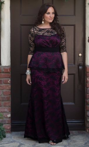Navy Blue Lace Mermaid Mother Of The Bride Dresses For Plus Size