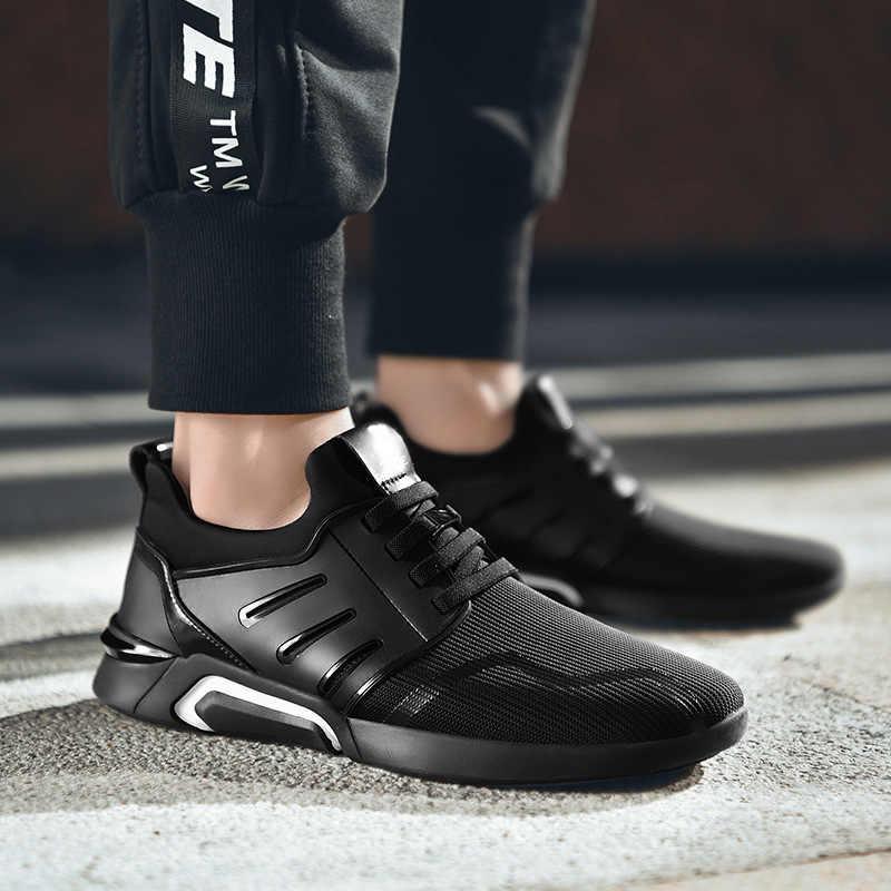 ผู้ชายรองเท้าสบายๆฤดูใบไม้ผลิฤดูใบไม้ร่วง Breathable รองเท้าผ้าใบผู้ชาย Air น้ำหนักเบากีฬากลางแจ้งรองเท้ารองเท้า