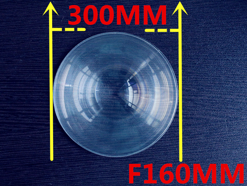 Lens Diameter 300 mm PMMA Fresnel Lens Focal length 160 mm used Plane enlarge Solar concentrator High light condenser lens цена и фото