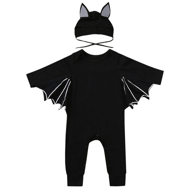 Toddler Newborn Baby Boys Girls Halloween Cosplay Costume Romper Hat Outfits Set baby girl clothes roupa de bebe