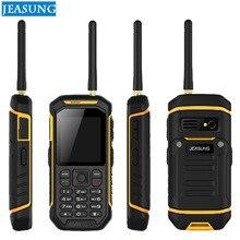 Telefones celulares impermeáveis ásperos grandes do telefone da bateria do teclado x6 russo tocha grande, função do walkie talkie, ip67 ptt