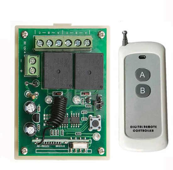 DC12V 2CH 500 м длинный диапазон RF Беспроводной дистанционного Управление реле безопасности Системы трубчатый мотор гараж дверные створки/современный потолочный светильник