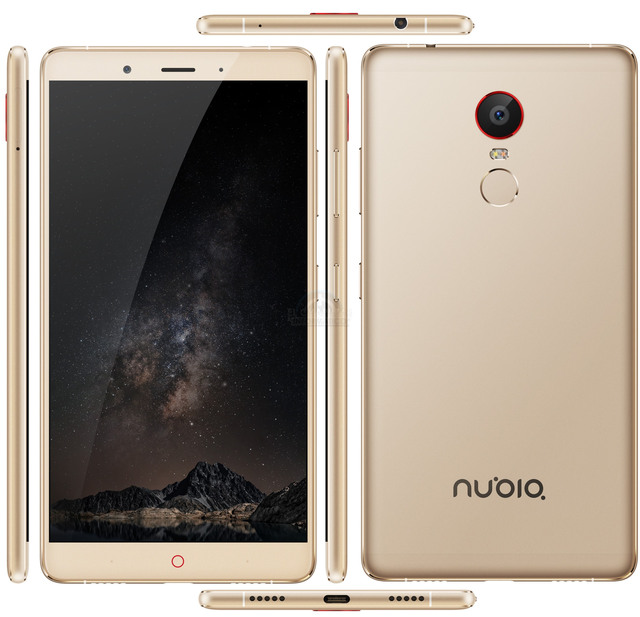 Original ZTE Nubia Z11 Max Mobile Phone 6″ FHD Snapdragon 652 Octa Core 3/4GB 64GB 16.0 MP Fingerprint ID 4000 Mah Smartphone
