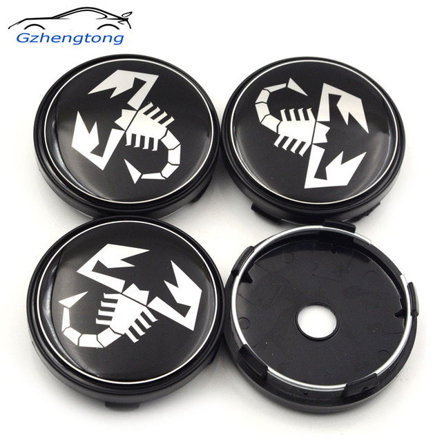 Gzhengtong Pcs Lot Mm Black Auto Wheel Center Badge For Fiat Abarth Wheel Centre Caps