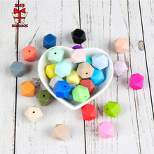 BOBO.BOX 20pcs Silicone Beads 14mm Baby Teething Teether Bead Food Grade Nursing Perle Toy DIY Pacifier Accessory