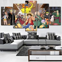 Modern Wall Art Living Room Decor Canvas HD Printed 5 Piece Anime Crossover Picture Home Decorative Modular Framework Artworks
