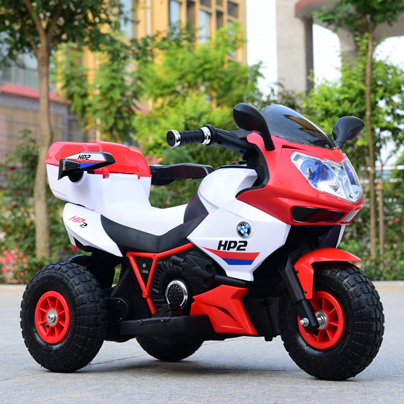 Enfants gonflable de pneus moto électrique bébé tricycle grand 1 à 12year-old enfant charge bouteille jouets peut prendre les gens rem
