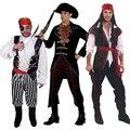 Хеллоуин костюм взрослого мужчины пират Капитан Джек Воробей Костюм сценическое одежда ролевая пират капитан