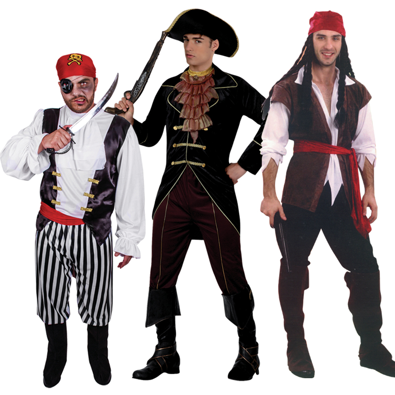 Halloween costume male adult pirate Captain Jack Sparrow Costume stage performance clothing role-playing pirate captain