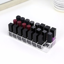 Купить с кэшбэком 2018 Aila New 24 Lipsticks Organizer High Quality Small Box Drawer Dresser Vanity Makeup Organizer