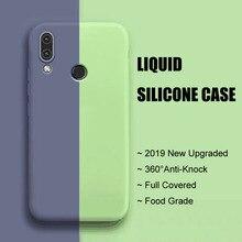 2019 New Liquid silicone Case For Huawei Nova 3i 3 Nova3 Full Covered Phone Cute Anti-knock Plain Back Cover