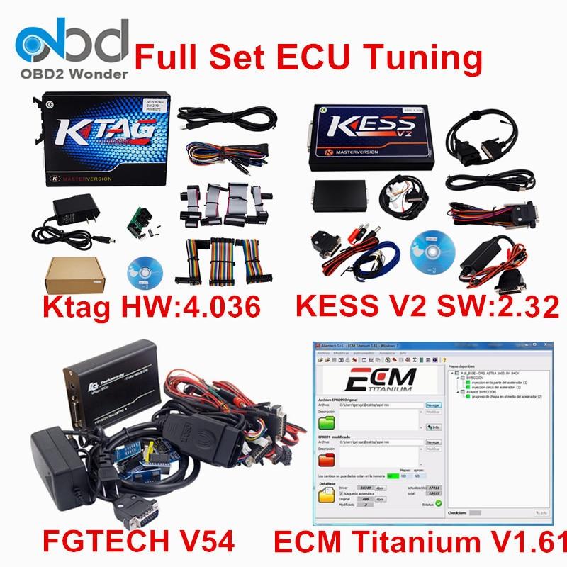 Цена за Полный набор KTAG V2.13 и KESS V2 плюс FGTECH V54 адаптер OBD2 менеджер Тюнинг Комплект нет маркеры Limited k тег ЭБУ чип программист KESS