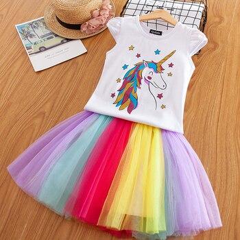 de2ba2d5a6d Нарядное платье с единорогом для девочек от 3 до 8 лет