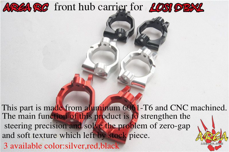 ARE RC front hub carrier for LOSI DBXL rear hub carriers inclue extenders for losi dbxl