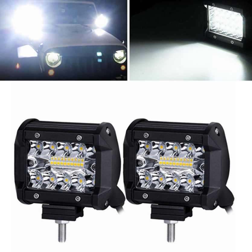 Bakuis LED Work Light 4 inch Combo Light 60W offroad 4x4 Led Spot Flood Driving Work Light for Jeep ATV SUV Truck Boat 12V 24V brand new universal 40 w 6 inch 12 v led car work light daytime running lights combo light off road 4 x 4 truck light