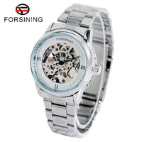 Luxury Brand Forsining Golden Silver Mechanical Wrist Watch Relogio Masculinos Mens Watches W18010