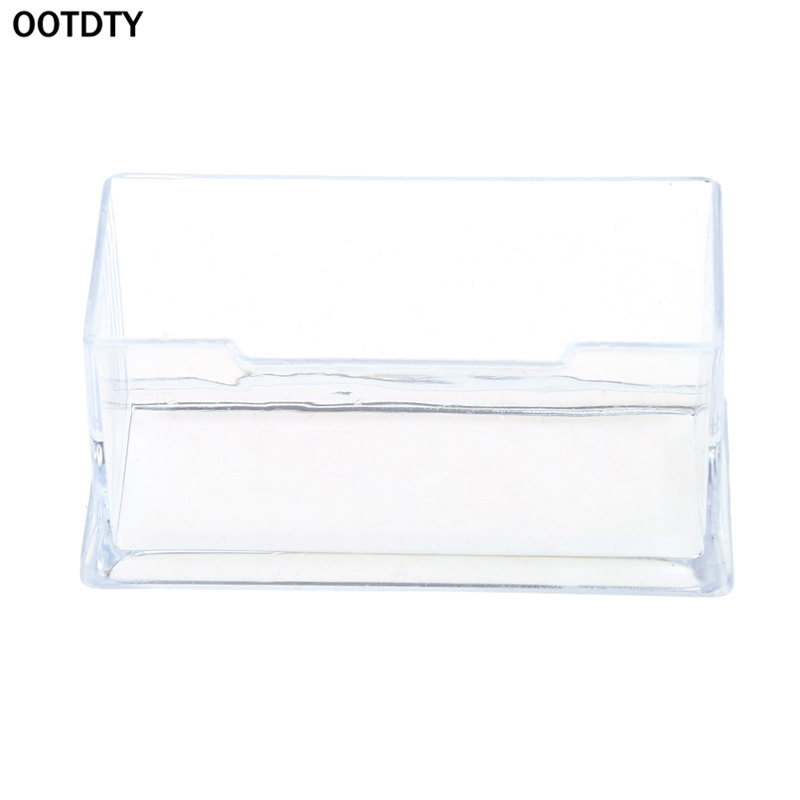 Clear Business Card Holder Acrylic Plastic Display Stand Rack ...