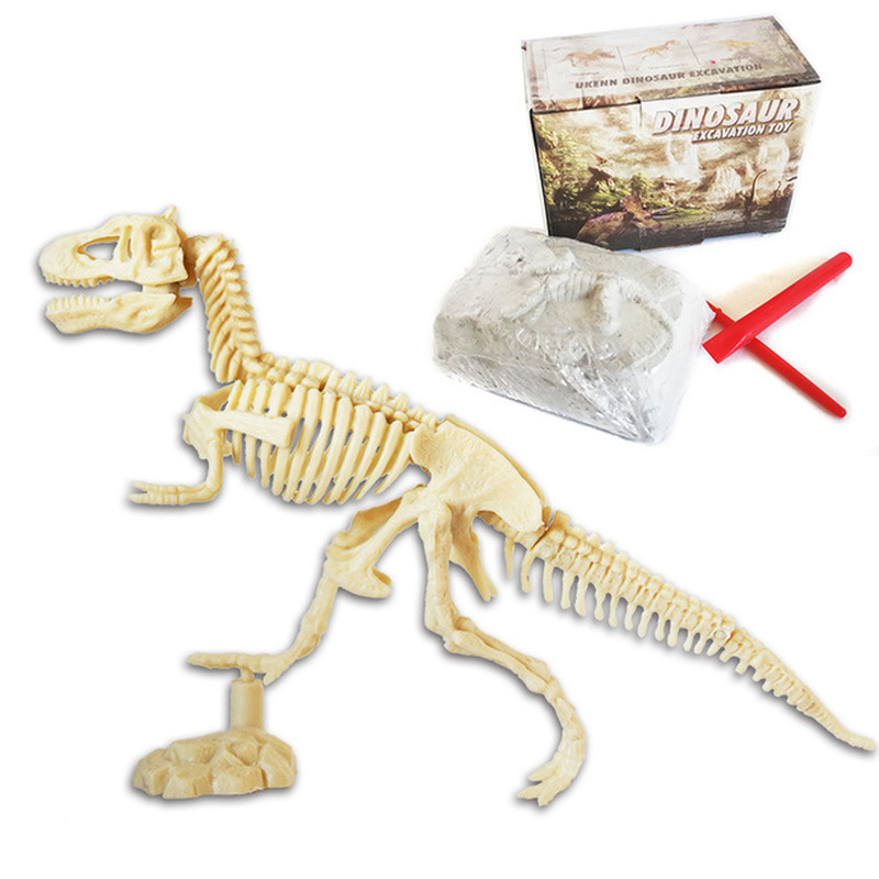 New Discover Dinosaur Kit Skeleton Bones Model Excavation Archaeology Toys For Children Gift Ultimate Dinosaur Science Kit